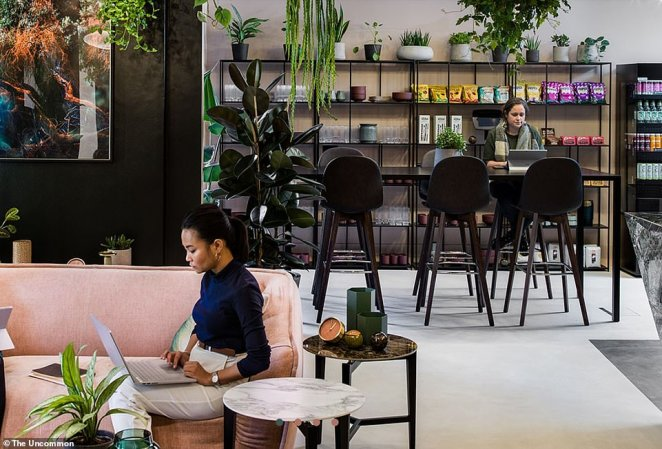 The Uncommon in London has funky work areas with comfy sofas, plants and spacious areas to connect with others