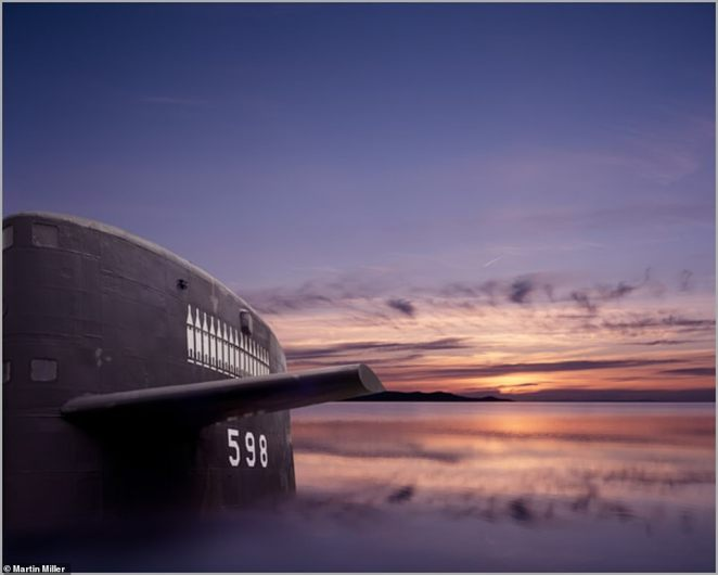 Miller has also photographed equipment used in the early stages of the Cold War, when nuclear technology was still in its infancy stages. One image on his website shows the USS George Washington - the United States' first operational ballistic missile submarine. The nuclear sub was first commissioned in 1959, and made 55 deterrent patrols in both the Atlantic and Pacific oceans across the next 25 years. In comparison with the detailed images of the navigational systems, the submarine appears relatively unsophisticated - which helps to highlight the incredible technological advances which were made by the US across the Cold War years.