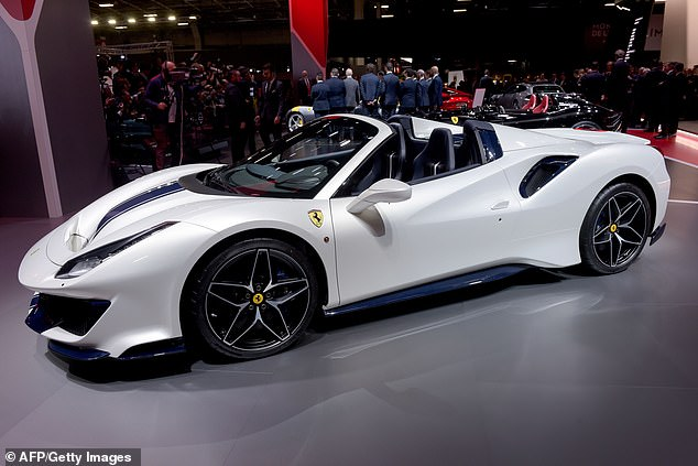 Spence Jr was driving a $300,000 Ferrari 488 Spider similar to the one pictured here