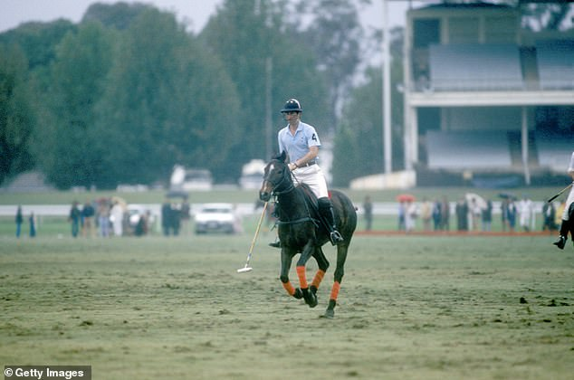 Tour: The scenes are recreating Charles' polo match at Warwick Farm Racecourse near Sydney which took place on April 3, 1983