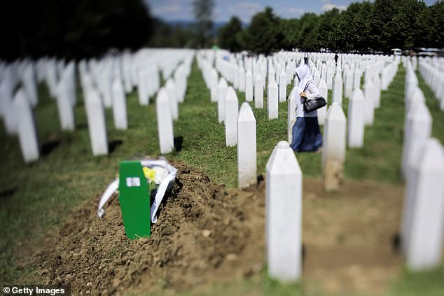 A view of the Srebrenica Potocari Memorial, after the burial of recently identified remains of 33 victims of Srebrenica Genocide on the 24th anniversary of Srebrenica Genocide on July 11, 2019