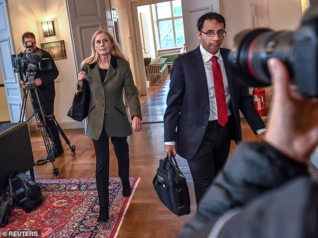 The literature prize was cancelled last year after a mass exodus at the Swedish Academy following sexual abuse allegations. Jean-Claude Arnault, the husband of a former Academy member, Katarina Frostenso (pictured walking), was convicted last year of two rapes in 2011. Arnault also allegedly leaked the name of Nobel Prize literature winners seven times