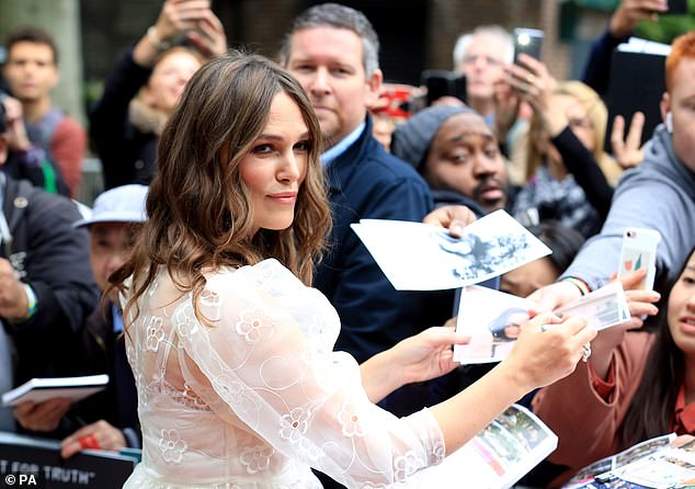 This marks Keira's first red carpet appearance since giving birth to her second child