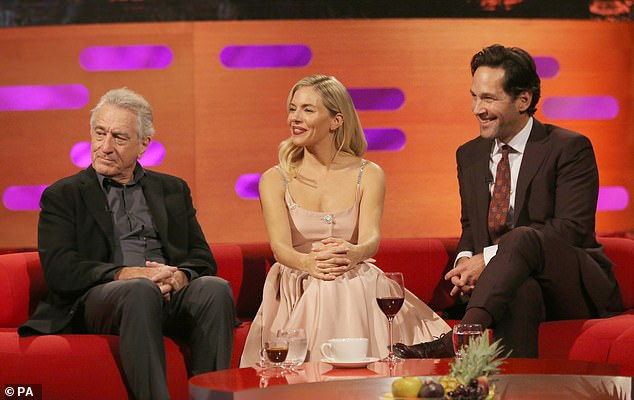 Joining forces: The TV host will be joined by Sienna Miller as well as A-listers Robert De Niro and Paul Rudd, as well as Bruce Springsteen and James Blunt