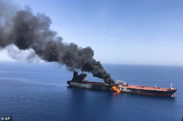 Friday's attack comes after a series of blasts targeting oil tankers belonging to Saudi Arabia and its allies, including on two vessels owned by Japan and Norway in June  (pictured)