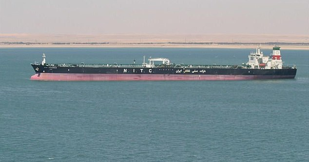 The tanker is carrying 1million barrels of oil, and until Friday had not transmitted its location for 57 days. Iranian tankers often turn their trackers off to skirt US sanctions on exports