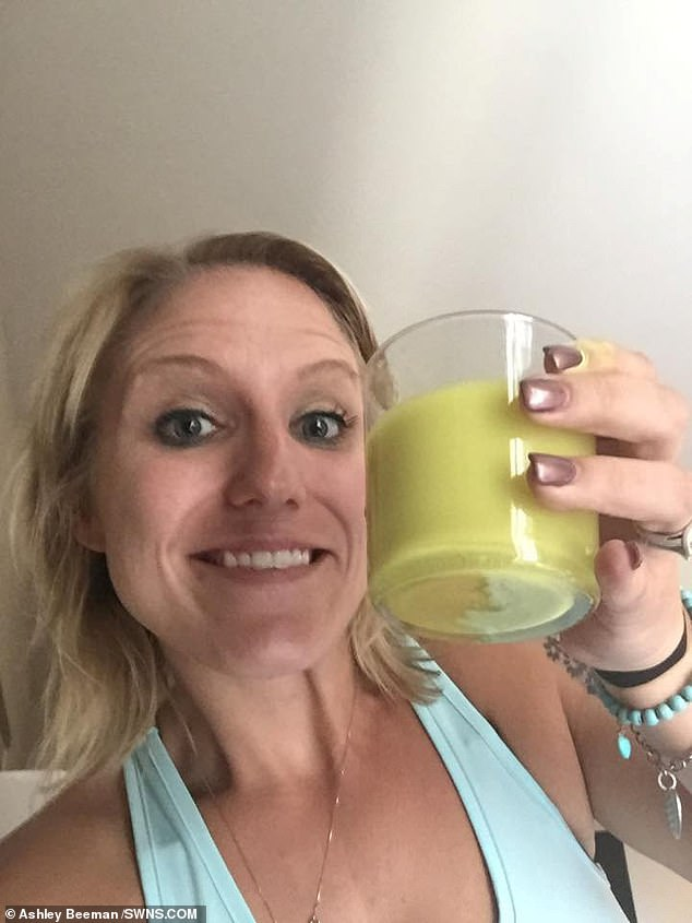 The mother-of-two continued blogging online about health and fitness despite being addicted to the drug
