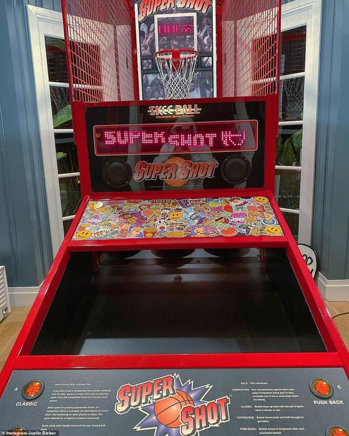 Company:Showing off their playful sides, the couple's home boasts a Skee Ball Super Shot basketball machine which retails at around $5,433
