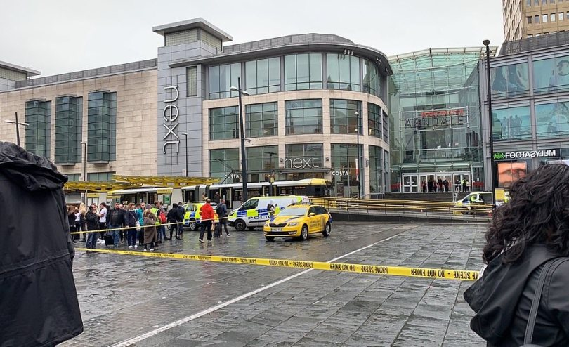 A wide cordon has been put around the centre as emergency services deal with those injured. Armed police are on patrol