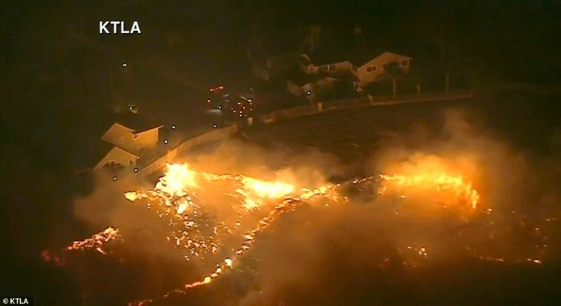 Authorities have ordered mandatory evacuations in the Granada Hills, Porter Ranch and Oakridge Estates neighborhoods on Thursday night and Friday morning