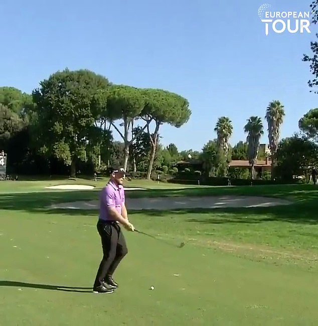 Tyrell Hatton was distracted by a noise mid-swing during the second round of the Italian Open