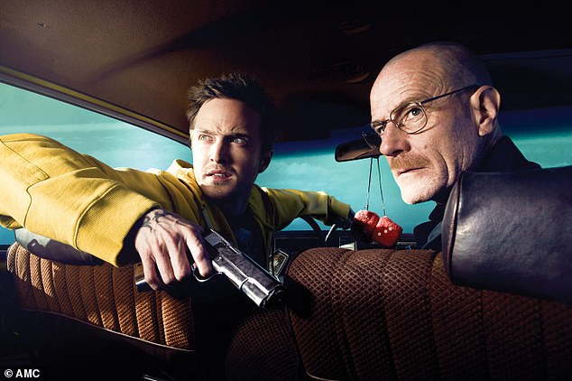 Iconic: Breaking Bad followed dejected high-school chemistry teacher Walter White, who starts making Crystal Meth with former student Jesse, after being diagnosed with lung cancer
