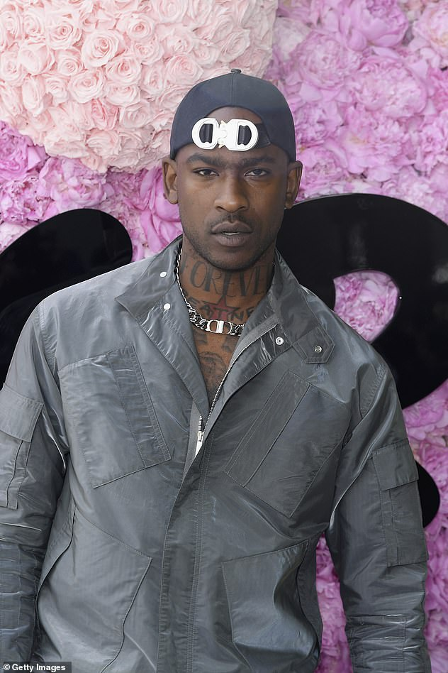 Getting close: The singer apparently helped Skepta, pictured, celebrate his 37th birthday at the Crystal Maze experience in London in September