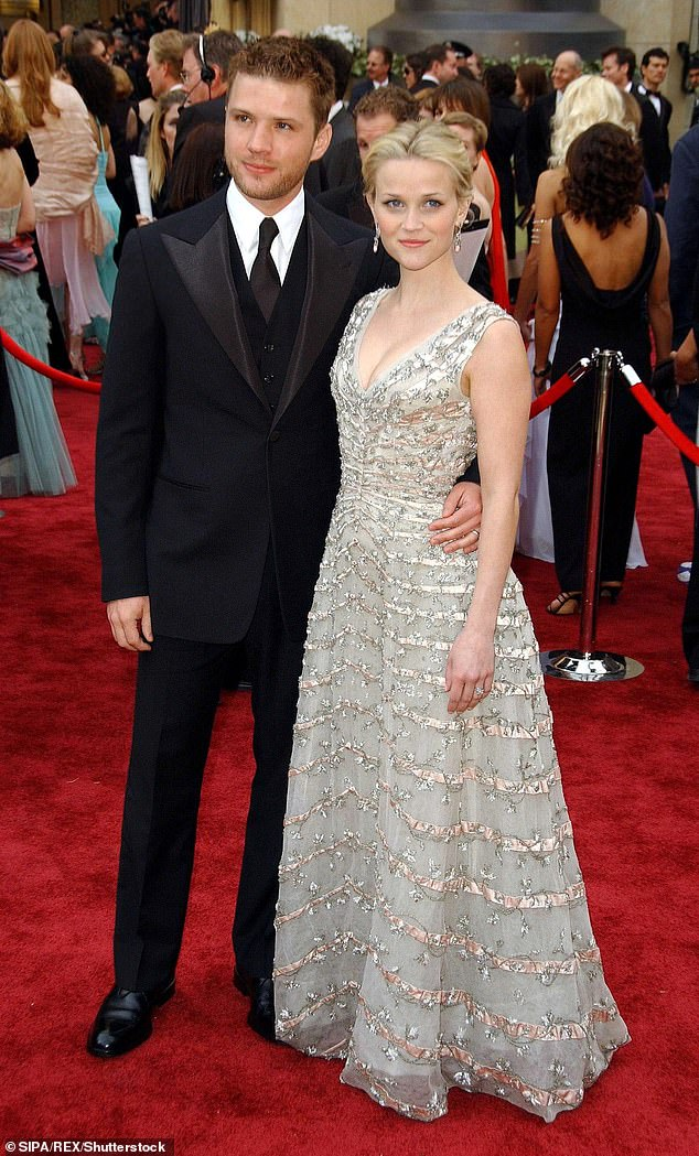 Once happy couple: Ryan and ex-wife Reese Witherspoon at the Oscars in 2006. She now won't have to testify in  the assault case against him