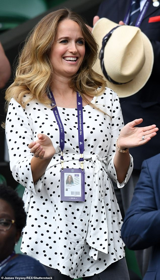 She had been in the crowd during her husband's mixed double play with Serena Williams