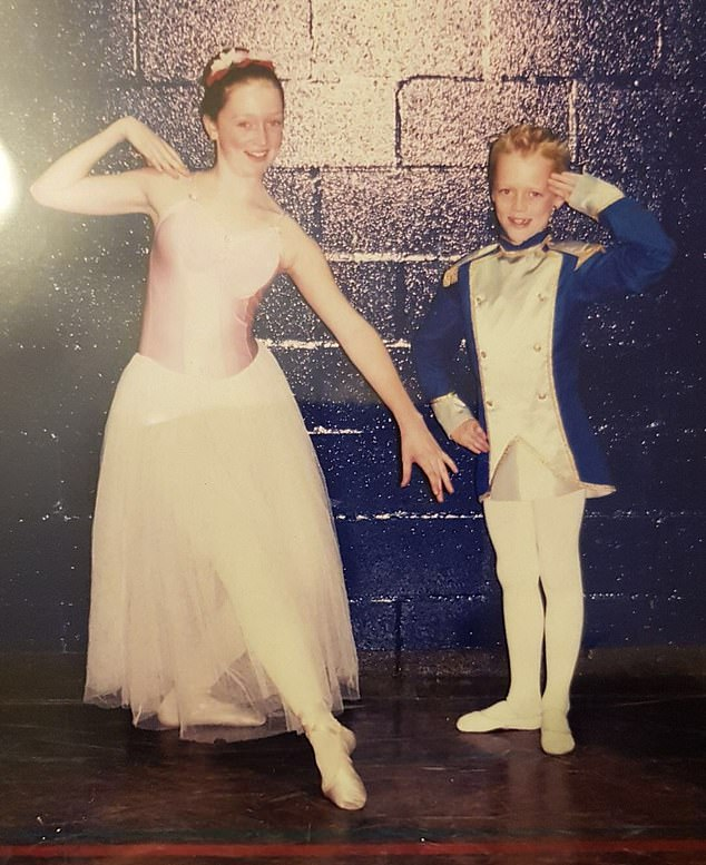 Now 26-year-old recently fulfilled his lifelong ambition to become a top-level lead soloist. Pictured:Daniel as a young boy with sister Amy