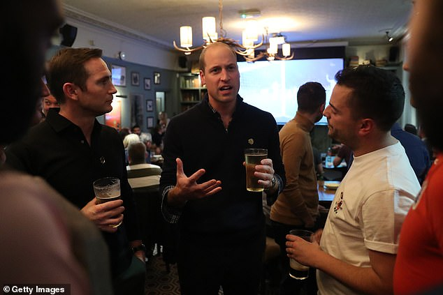 The Duke of Cambridge attended an event at a pub in Battersea in South West London