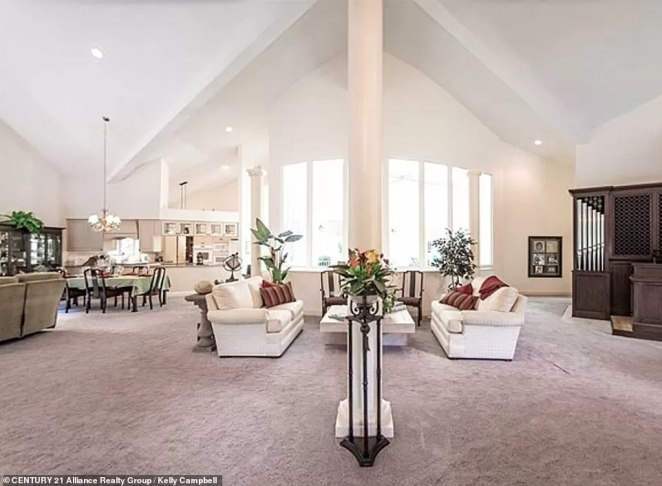 The 'great room' has two seating areas, and boasts a big open space leading to all areas of the home