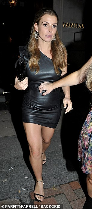 Good night? Coleen put on a leggy display as she strutted down the street