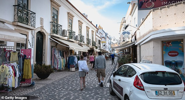 The hotel is just a short drive from Albufeira Town which is one of the Algarve's liveliest resorts (stock image)