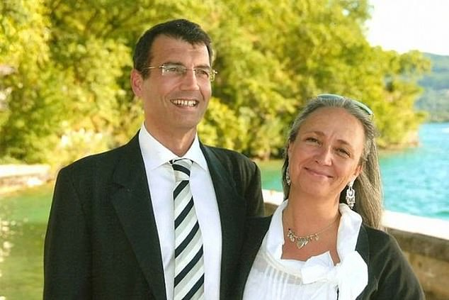 Xavier Dupont de Ligonnes, pictured with wife Agnes, 48, was subject to an international arrest warrant for the 2011 killings in a mystery that transfixed France