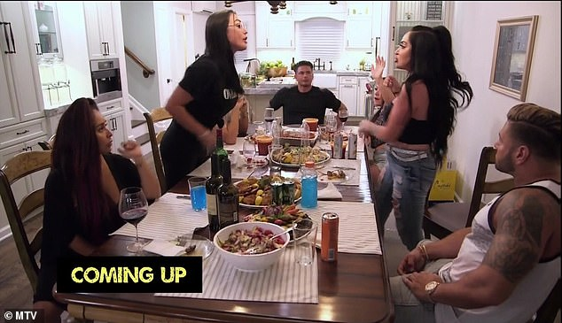 No holds barred: When JWoww got wind of the incident, she refused to believe Angelina's story, snapping at Angelina: 'How much do you commit to a lie?'
