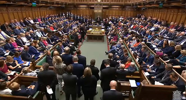 The sitting (file image) would be the first Saturday session since the start of the Falklands War in 1982 and just the fourth in 80 years. Parliament would run around the clock for seven days a week if the vote is passed as Mr Johnson tries to force a deal through both Houses before deadline day on October 31