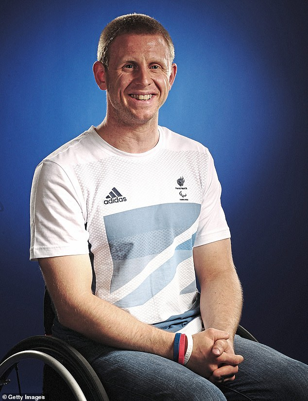 Aaron Phipps, 36, (pictured) a Paralympian and GB wheelchair rugby player, was diagnosed with bacterial meningitis and sepsis at 15