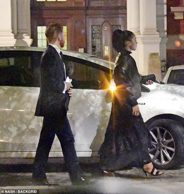 Heading home: The Strictly dancing partners looked relaxed after their busy day of events