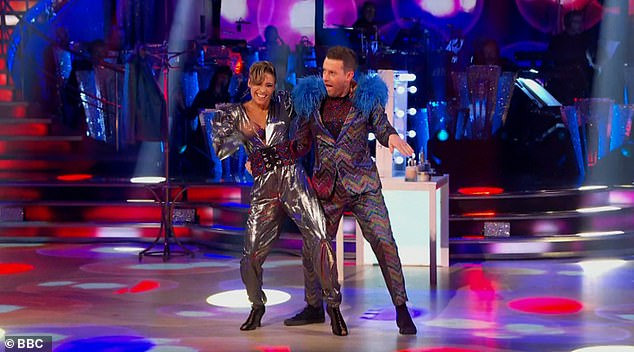 Energetic:Chris Ramsey was channelling Elton John as he was the first star to take to the floor with Karen Hauer on the live show, with a Jive to Saturday Night's Alright (For Fighting)