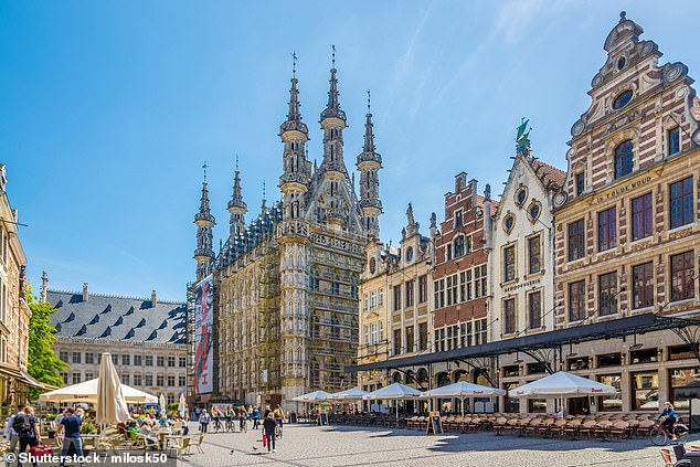 Kelly lives with her family near Leuven (pictured) – yet incredibly had not told her parents, identical twin sister or younger sibling of her plan