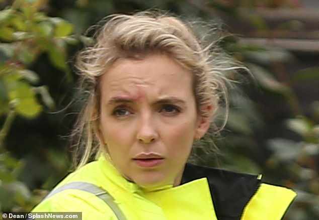 Fans will have to wait until the new series is shown to find out what the outcome is of the encounter between Martens and Villanelle. Miss Comer is pictured above during the dramatic scene