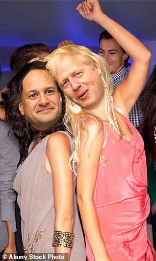 The anonymous sniping and briefings swirling between the UK and the EU at the beginning of last week would have made Coleen Rooney and Rebekah Vardy blush. Pictured are Leo Varadkar and Boris Johnson as WAGs