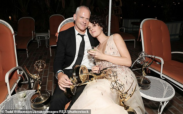 She is swapping Kensal Rise for a swanky apartment in New York with her director boyfriend Martin McDonagh (pictured together at theEmmy Awards last month)