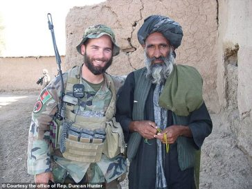Golsteyn (seen here in Afghanistan in 2010) is charged with murdering a man whom he suspected of being a Taliban bombmaker. The man in the photo on the right is unrelated to the suspected bombmaker