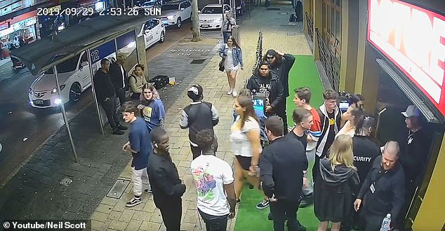 Mr Scott early on Monday morning he posted CCTV of Ms Smith entering the leaving the club to support his claim that her drink was never spiked