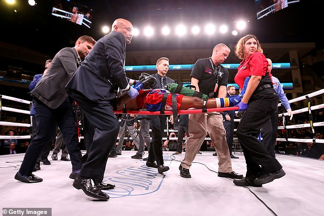 Day was taken to a hospital after getting knocked out in the 10th round by Charles Conwell