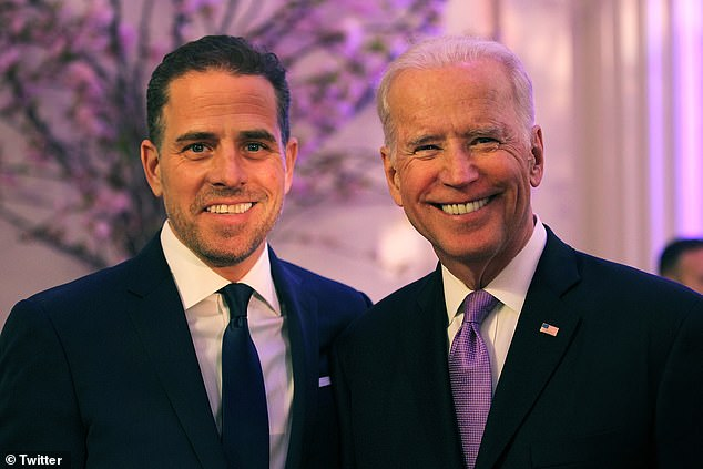 Hunter Biden, 39, announced he will resign from the board of BHR (Shanghai) Equity Investment Fund Management Company at the end of the month following President Donald Trump's accusations of corruption with the state-backed firm in 2013. Hunter pictured with father Joe Biden in 2016