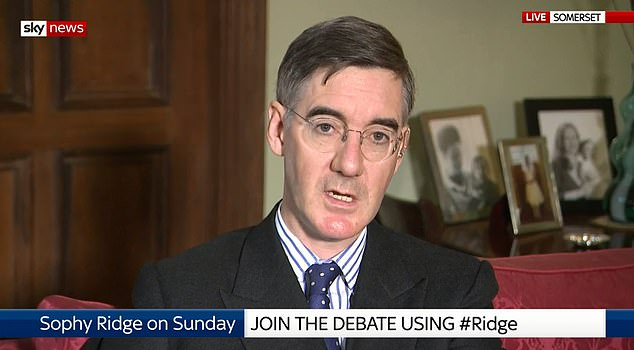 Jacob Rees-Mogg was pressed on whether the blueprint being considered was similar to one floated by Mrs May, which he dismissed at the time as 'cretinous'