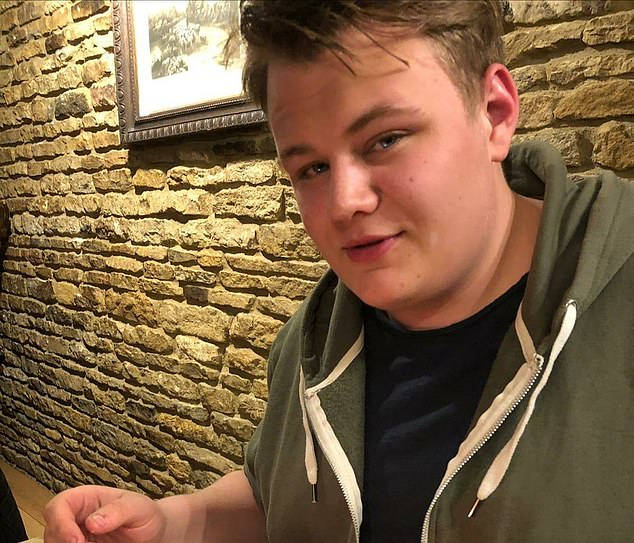 Harry Dunn, 19, (pictured) was killed after Sacoolas, 42, crashed her Volvo SUV into him near RAF Croughton in Northamptonshire