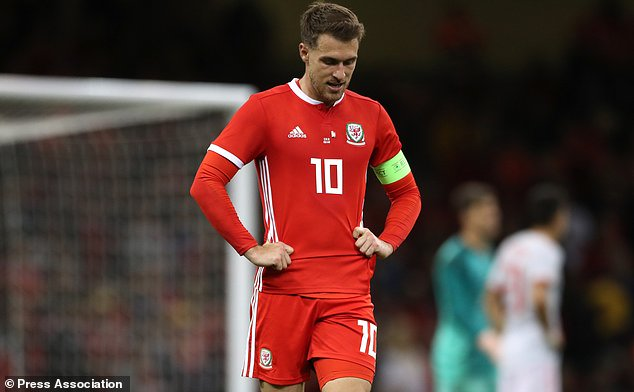 Aaron Ramsey has not featured for Wales for almost a year (Nick Potts/PA)
