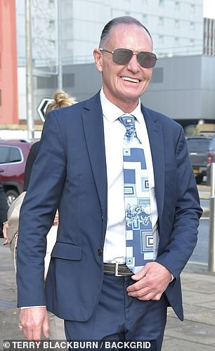 Paul Gascoigne has arrived at Teesside Crown Court in Middlesbrough ahead of his trial for allegedly sexually assaulting a woman by kissing her on a train