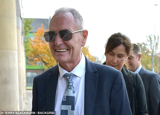 A supporter of the former footballer shouted 'Go on Gazza, lad' as he arrived at the court
