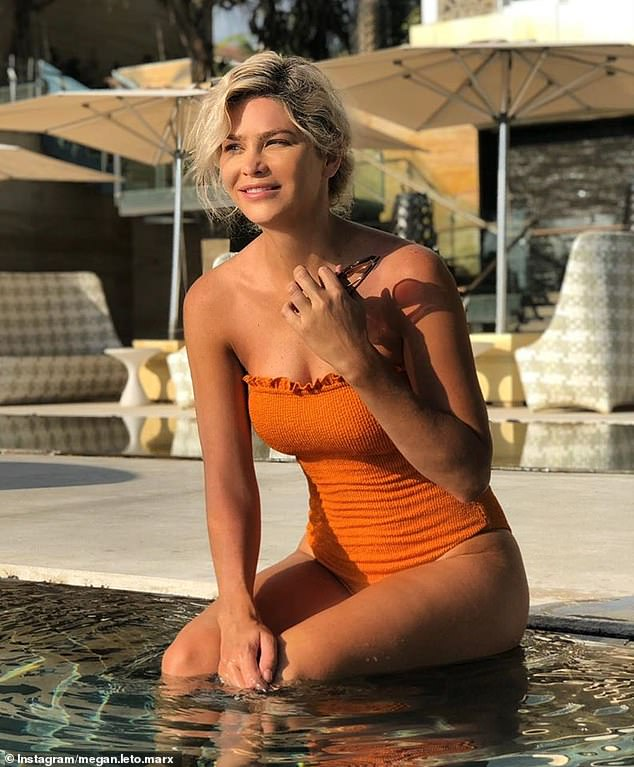 Sign of the times: Former Bachelor star Megan Marx (pictured) said on Sunday that reality dating shows exploring same-sex relationshipswill help fight the stigma around gay and lesbian couples