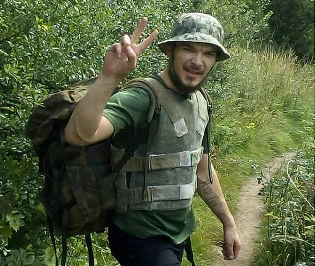 Aidan James (pictured), 28, is on trial for fighting against ISIS with a banned Kurdish group