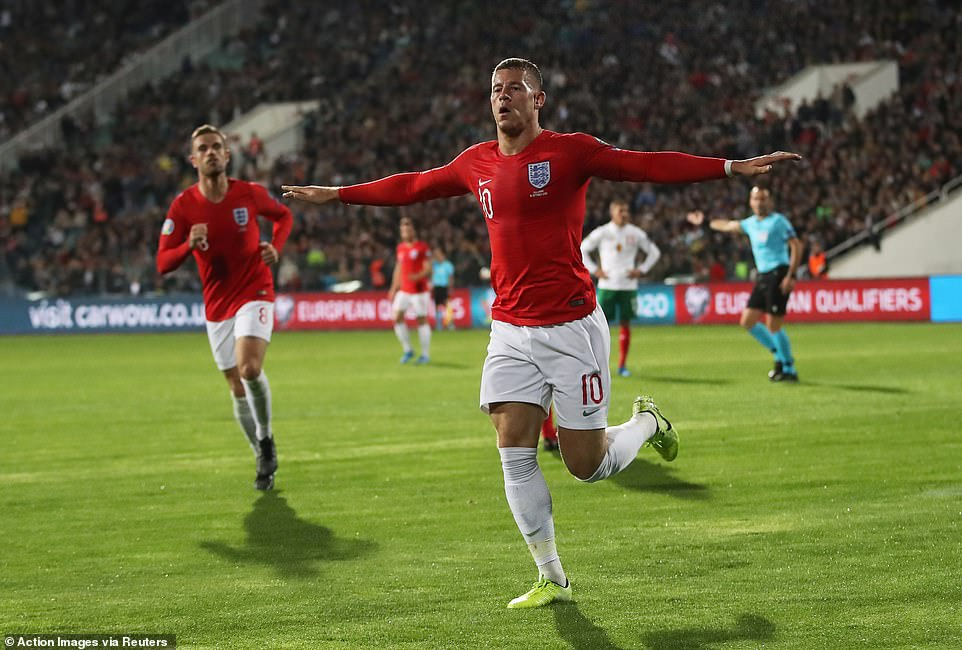 Barkley's sixth goal for England was his sixth away from home and handed the Three Lions a comfortable advantage