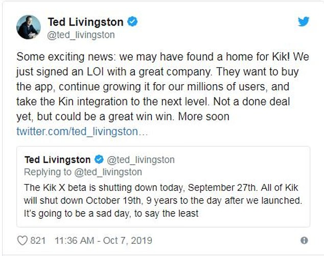 The messaging app was facing a lawsuit from the US Government over the way it was selling cryptocurrency to customers ¿ and the only way out was to label Kin a security or fight them in court