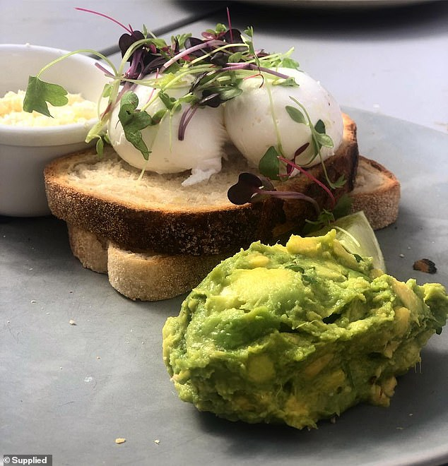 You might have heard dietitians talk about how popular protein is, but making sure you get some at breakfast will help you to lose weight in the long run (pictured: eggs and avocado)