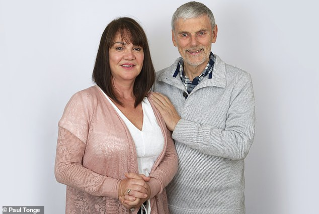 Retired physiotherapist and grandfather of five, Malcolm Robinson, 71, owes his life to the prompt action of off-duty nurse Judy Lewis (pictured together), who administered first aid after he collapsed suffering a cardiac arrest in April 2017