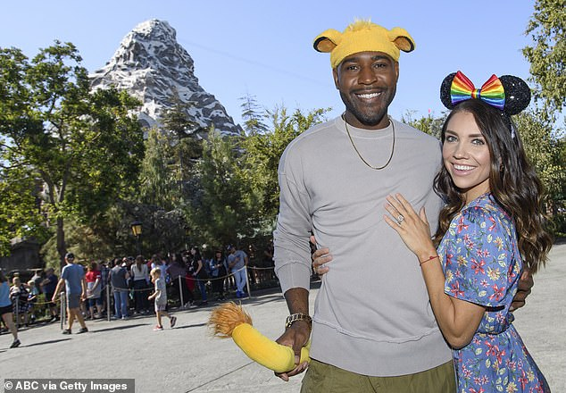 Special significance: Karamo Brown while visiting Disneyland with pro dance partner Jenna Johnson discussed the special significance of The Lion King as a single father to two boys